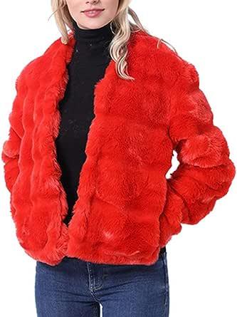 Cappotto Cappuccio Cappotti Giacca Giubbotto Trench Giacca da Donna con Collo Lungo Medio in Finto Collo Leopardato Invernale Lungo Elegante Moda Casual