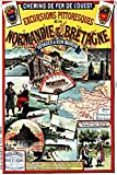 Poster Vintage/Retro, Normandie und Bretagne, Format 40 x