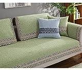 Telar Tela Protector para sofás 3 seaters,Algodón y lino sofá antideslizante toalla tapa amo...