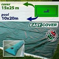 Telo di copertura invernale per piscina 10 X 20 mt con tubolari perimetrali