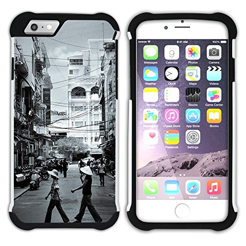 Graphic4You Mountains In Japan Postkarte Ansichtskarte Design Hart + Weiche Kratzfeste Hülle Case Schale Tasche Schutzhülle für Apple iPhone 6 Plus / 6S Plus Tapei Taiwan