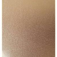25 Blatt PU DIN A4 Golden Copper (Goldkupfer) schimmerndes Papier 120g/m² (210x297 mm) von Top Lamination - komplett durchgefärbt, mögliche Verwendung: Einladungen, Einlegeblätter für Alben, Hochzeitskarten, Fotoalbum, Poster, Plakate, Bastelarbeiten und vieles mehr