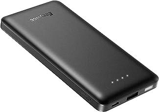EasyAcc Powerbank 10000mAh Quick Charge Externer Akku Ultra Slim Klein Leicht Portables Ladegerät für iPhone, Samsung usw. - Schwarz