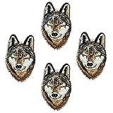 4pcs personalidad Super Cool DIY hierro en la ropa parches animales pegatinas pegatinas de...