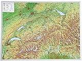 Schweiz 1:500.000 ohne Rahmen: Reliefkarte Schweiz 1:500.000 ohne Rahmen (Tiefgezogenes Kunststoffrelief)