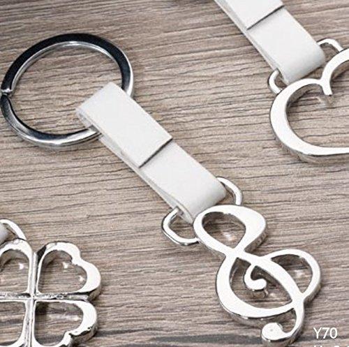 Subito disponibile 12 pezzi portachiavi chiave di violino acciaio e similpelle bomboniera