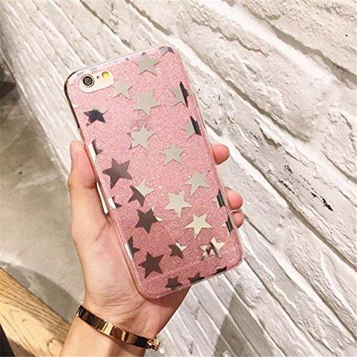 Mobiltelefonhülle - Für iPhone 6 Plus & 6s Plus TPU Glitter Powder Star Pattern Drop-proof Schutzmaßnahmen zurück Cover Case ( Großauswahl : Ip6p9666s )
