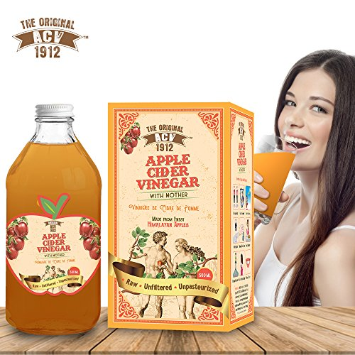 Dr Trust Original Acv (Usa) Apple Cider Vinegar (500 Ml ) With The Mother Measuring Cap Free