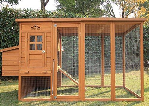 Pets imperial® arlington pollaio gabbia con recinto lungo de 8ft / 2.5m e tetto i rete galvanizzata adatto per 4 a 6 uccelli secondo le loro dimensioni