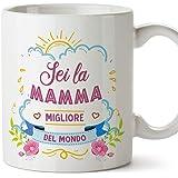 """MUGFFINS Tazza Mamma -""""Sei la mamma migliore del mondo"""" (Modello 1) – Idee Regali Originali Festa della Mamma"""