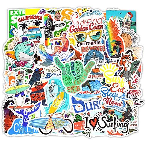 QIANGWEI 50 Sticker Sommer Surf Beach Sticker Kids Laptop Kühlschrank Telefon Skateboard Koffer Fun Cool Sticker