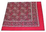 Tobeni 548 Bandana Kopftuch Halstuch Nickituch in 100 Baumwolle für Damen und Herren Farbe Turkey Rot Grösse 54 cm x 54 cm