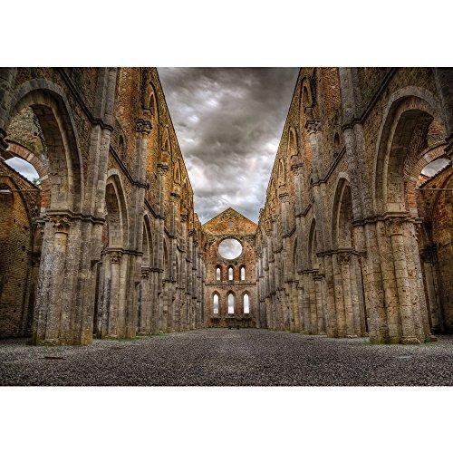 Vlies Fototapete PREMIUM PLUS Wand Foto Tapete Wand Bild Vliestapete - Kirchenruine Gotik...