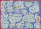 mindmemo Lernposter - Les premiers pas - Französisch für Anfänger - spielend Französisch lernen Kinder Vokabeln lernen mit Bildern Lernhilfe Poster DIN A2 42x59 cm PremiumEdition Transportrolle