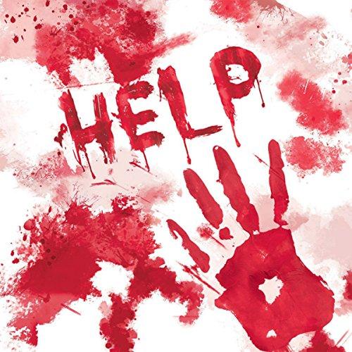 20 Servietten * HELP * für Halloween, Party und Geburtstag // Napkin Party Blut Horror Gruseln