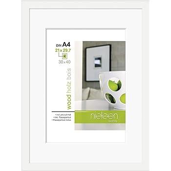 Nielsen Apollo White 40 x 50 cm Wooden Picture Frame: Amazon.co.uk ...