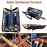 lzndeal Tragbarer Solargrill Solarofen Solarkocher Sonnengrill BBQ Grill Solarkocher Solar-Barbecue-Herd mobilen Outdoor Picknick