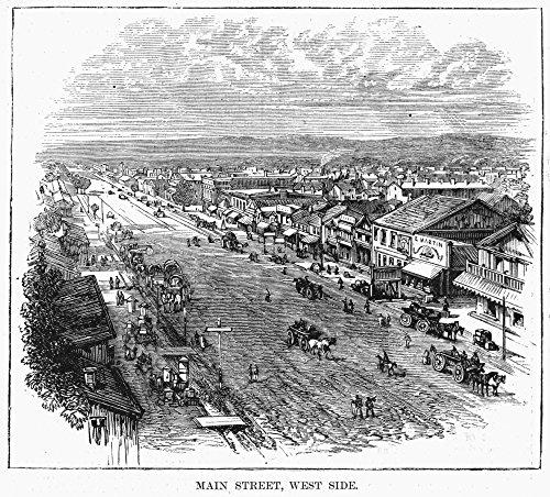 The Poster Corp Salt Lake City 1872. /Nthe West Side of Main Street In Salt Lake City Utah. Engraving 1872. Kunstdruck (60,96 x 91,44 cm) -