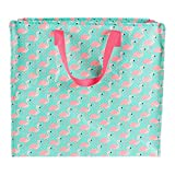 Tropical Flamingo Storage Bag Pink Shopping Tote Bag Carry Cute Animal