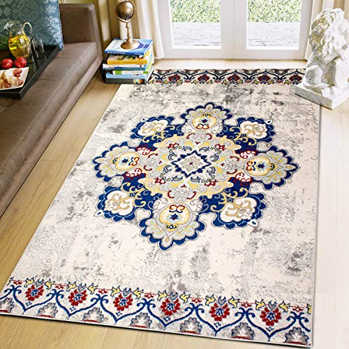 Super Bereich Rugs 5x 7Boho Teppich, Farbe Medaillon Traditionell/Transitional Vintage Teppich 3' 3