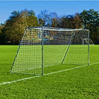 16 x 7 FORZA Steel42 Football Goal– [The Strongest Portable Steel Goal Post & Net Package with Football Goal Target Training Sheet]