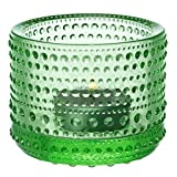 Iittala Kastehelmi Candelina, Portacandelina, Soporte para velas cerrado, a prueba de viento, el vidrio, manzana verde, cm 6.4, 1007579