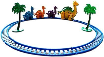 Amitasha Train Dinosaur Play Set with Track and Tree for Kids
