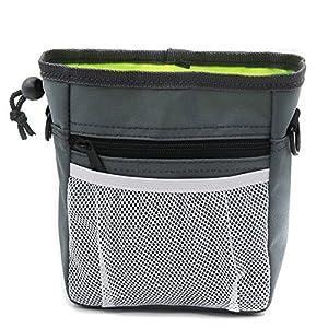 Sac à friandises pour chien avec sacs poubelle Pochette de dressage de chien avec ceinture,boucles de ceinture et bandoulière