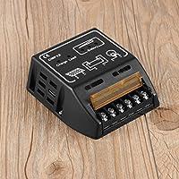 Gugutogo Regulador del regulador del Cargador del Panel de la energía Solar 10A Interruptor del Auto de 12V / 24V Interruptor Seguro automático TSR de la Seguridad Dispositivo (Color: Negro)