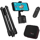 Pivo Standard Pack Silver - Kit Creazione Contenuto - Auto Tracking - Smartphone Pod - Video Vlogging Livestream 360° Mani li