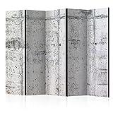 murando Raumteiler Beton Loft Foto Paravent 225x172 cm beidseitig auf Vlies-Leinwand Bedruckt Trennwand Spanische Wand Sichtschutz Raumtrenner grau f-A-0332-z-c