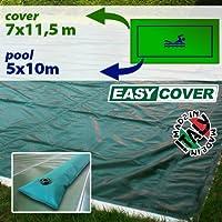 Telo di copertura invernale per piscina 5 x 10 mt con tubolari perimetrali