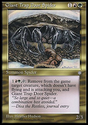 Magic: the Gathering - Giant Trap Door Spider - Ice Age by Wizards of the Coast - Giant Spider