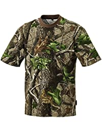 Pinewood Camo T Short Sleeve - Camiseta / Camisa deportivas , color verde, talla S