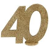 XXL Tischdeko Zahl 40 Geburtstag Gold Glitzer 1 Stück Party-Deko Palandi®