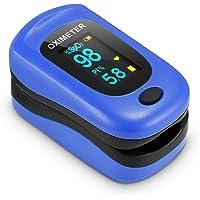 Saturimetro Da Dito, Pulsossimetro Professionale con Omnidirezionale OLED Display con Letture Immediate Ossimetro per…