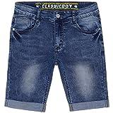 JNS Kids Jungen Capri Jeans Shorts Kinder Kurze Hose Bermuda 22527 Größe 128
