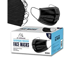 JB London [New Version] 3 Ply Disposable_Face_Masks 50pack   High Filterability, Suitable For Sensitive Skin Breathable Face