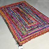 Avioni Cotton Chindi Braided Area Rug, Handmade By Skilled Artisans