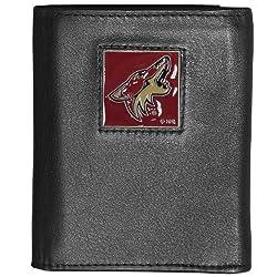 NHL Phoenix Coyotes Executive Genuine Leather Tri-Fold Wallet