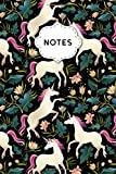 Notes: Hand Drawn Unicorns Pattern Quad Ruled 5 x 5 (.20'') Notebook for Math & Science Students and Teachers