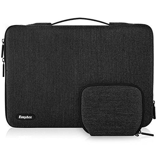 """EasyAcc 13-13.3 Zoll Laptoptasche Sleeve Hülle mit Griffen und Zubehörtasche, Tragbare Laptop Tasche Tragetasche für 13.3\"""" (33,8 cm) Notebook/Ultrabook/MacBook/Netbook, Dunkelgrau"""