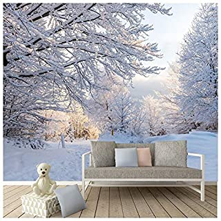 azutura Winter Woods Wall Mural White Trees Forest Photo Wallpaper Bedroom Home Decor available in 8 Sizes Gigantic Digital