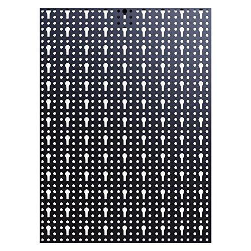 Panorama24 Dreiteilige Werkzeuglochwand aus Metall mit 17tlg. Hakenset, ca. 120 x 60 x 1,5 cm - 4