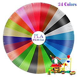 Fixget 3d Pen Filament Refills (24 Colors, 20 Feet Each) - 3d Printing Pen Filament Pla 1.75mm, 3d Printer Filament 3d Printing Pen Filament Refills For 3d Print Pen, 3d Printer & More