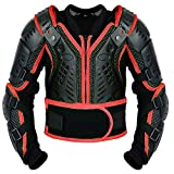 Kinder-Körper-Rüstung Motocross Motorrad Motorrad Schutz Jacke Motorrad Körper Schutz CER genehmigt - Bergradfahren ( Rot / Red - 2XL - Bis 14 Jahre alt )
