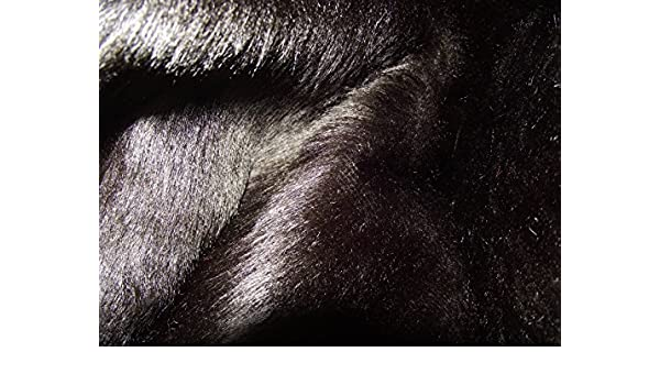 Plain Fun Faux Fur Fabric Material BLACK