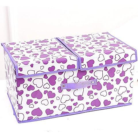 Panno Storage Box / coperto Folding Storage Box / / Large Storage Box / giocattolo per bambini vestiti Storage Box (14 colori facoltativi) ( colore : 8# )