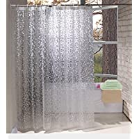 Shower Curtains By Eurcross EVA With Crystal Stone Waterproof And Mildew Resistant