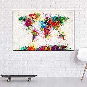 Póster Pintura del Mapa del Mundo «Michael Tompsett» (91,5cm x 61cm)